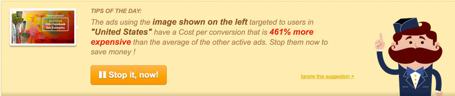 Stop underperforming ads banner