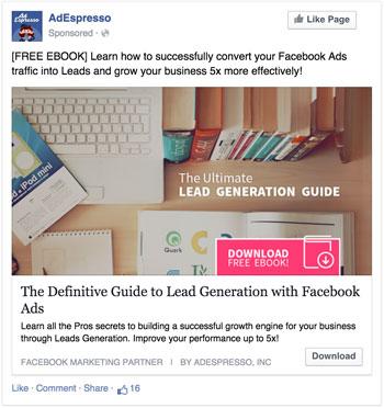 Facebook ad version 1