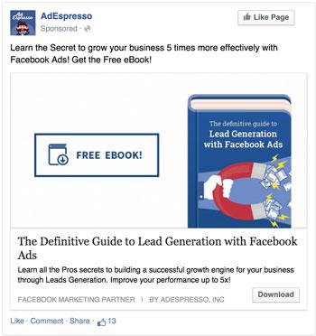 Facebook ad version 2
