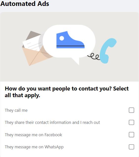 Configuração de anúncio automatizado do Facebook 10