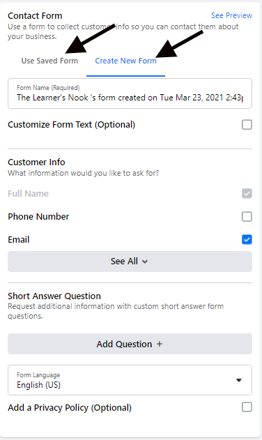 Configuração de anúncio automatizado do Facebook 14