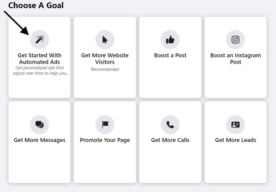Configuração de anúncio automatizado do Facebook