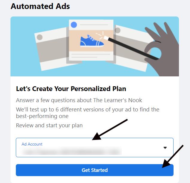 Configuração de anúncio automatizado do Facebook 3
