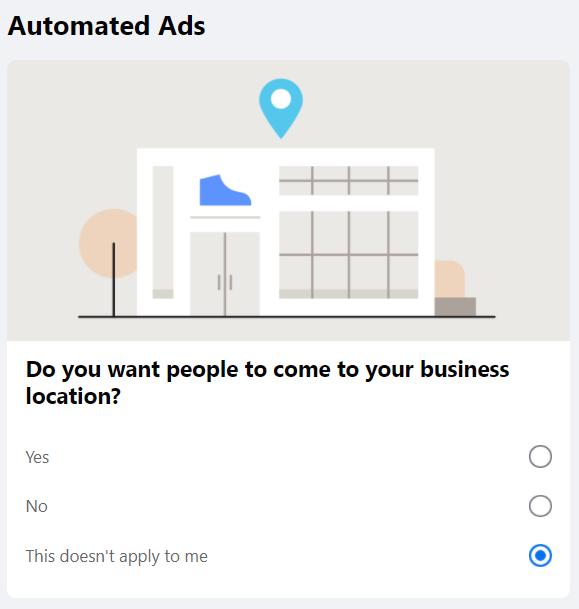 Configuração de anúncio automatizado do Facebook 4