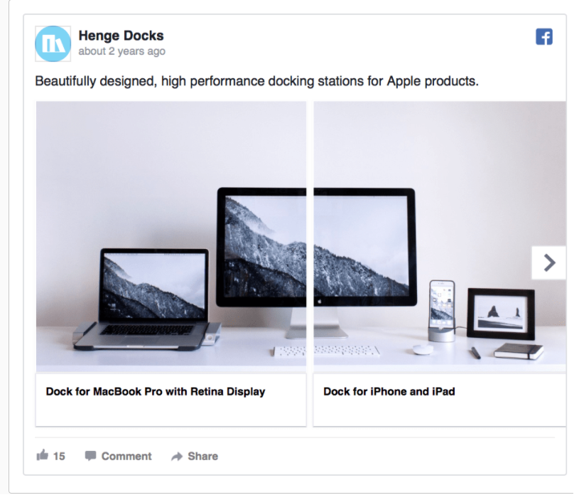 Facebook ad design from Henge