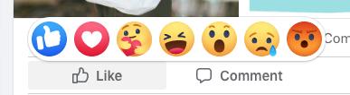 emoji reactions on Facebook
