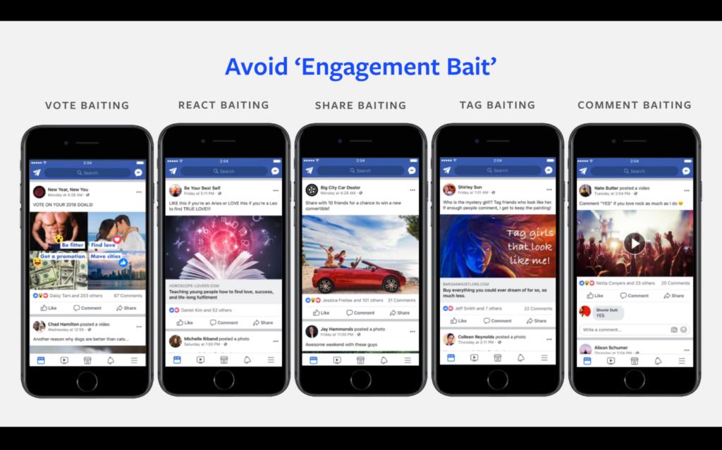 avoid 'engagement bait'