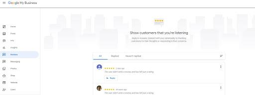 Replying to Google review