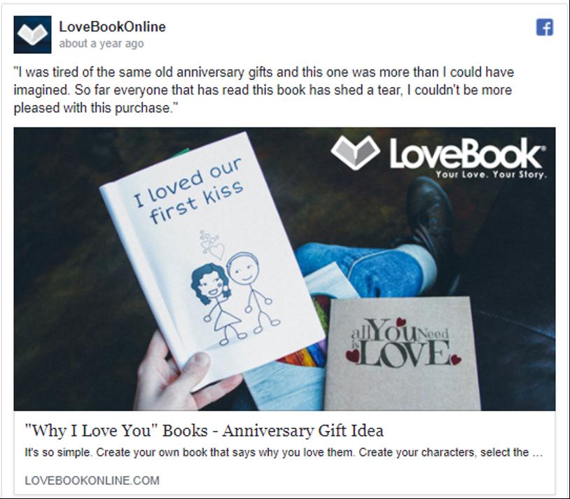 Ideias para presentes de aniversário LoveBookOnline