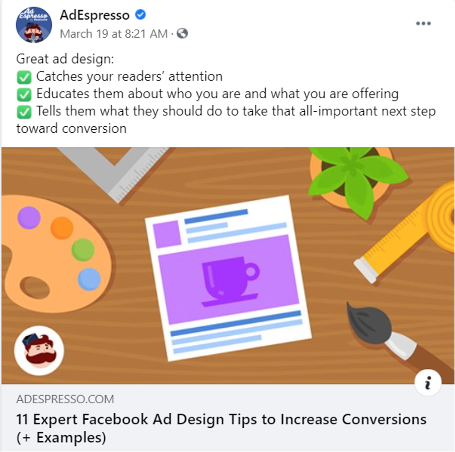 AdEspresso image ad Facebook Ad Design Tips