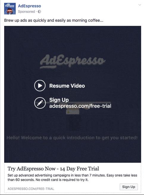 AdEspresso video ad