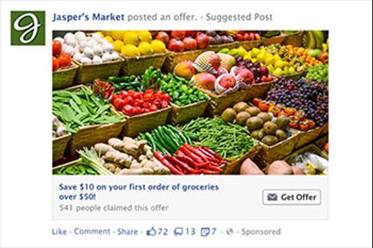 Jasper's Market save $10 on first order of groceries over $100 offer