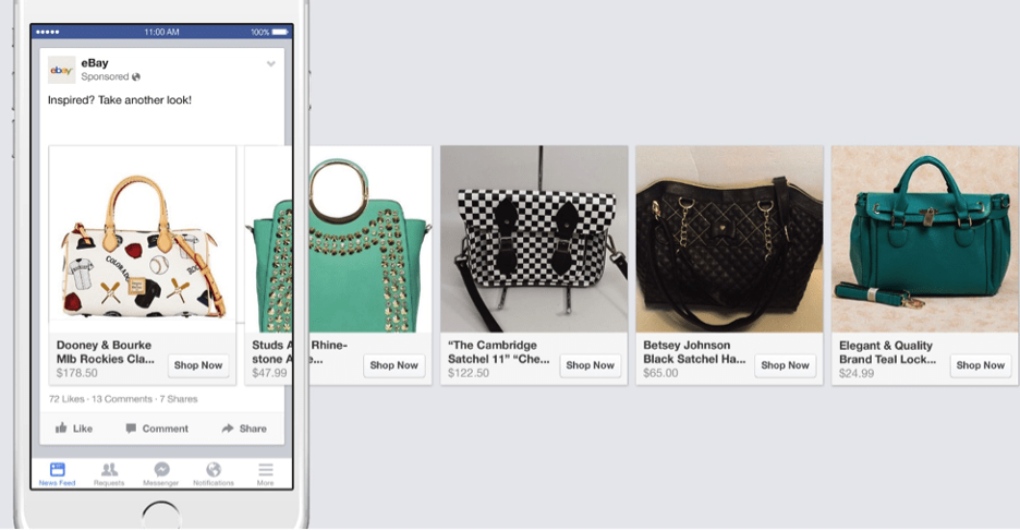 eBay dynamic ad handbags and purses