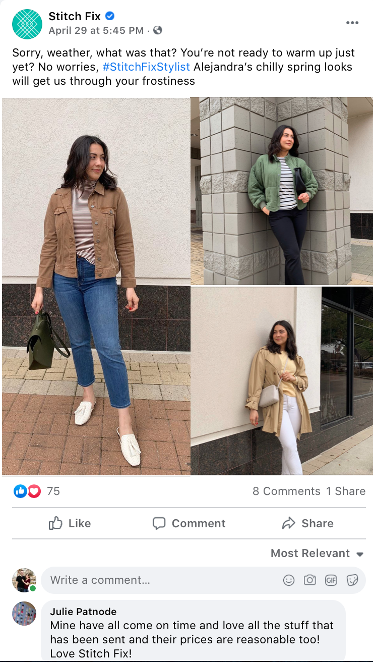 Employee generated content Facebook post for engagement
