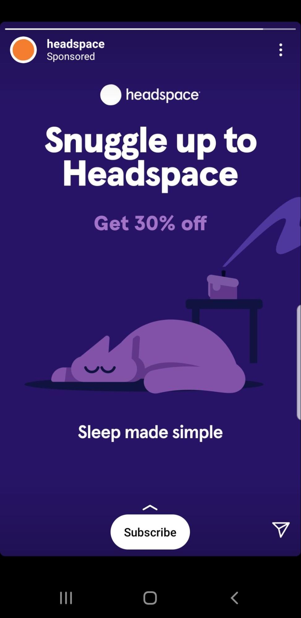 Headspace Instagram ad