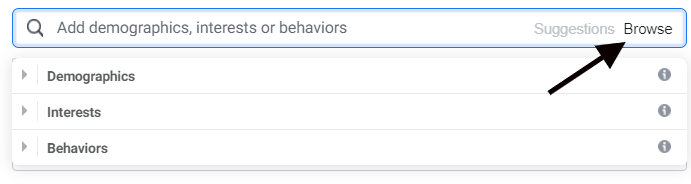 Adding demographics, interests, and behaviors to a saved audience