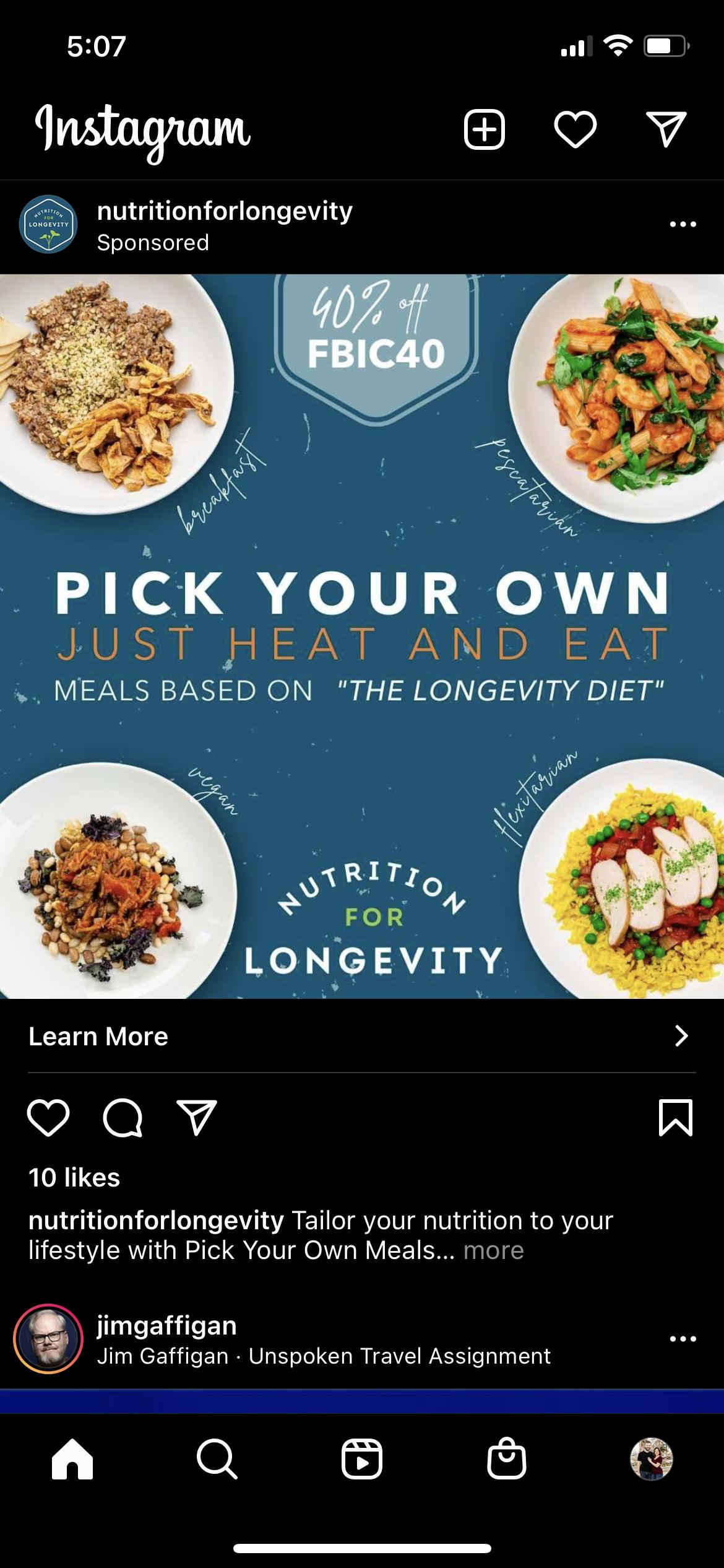Instagram Ad design example