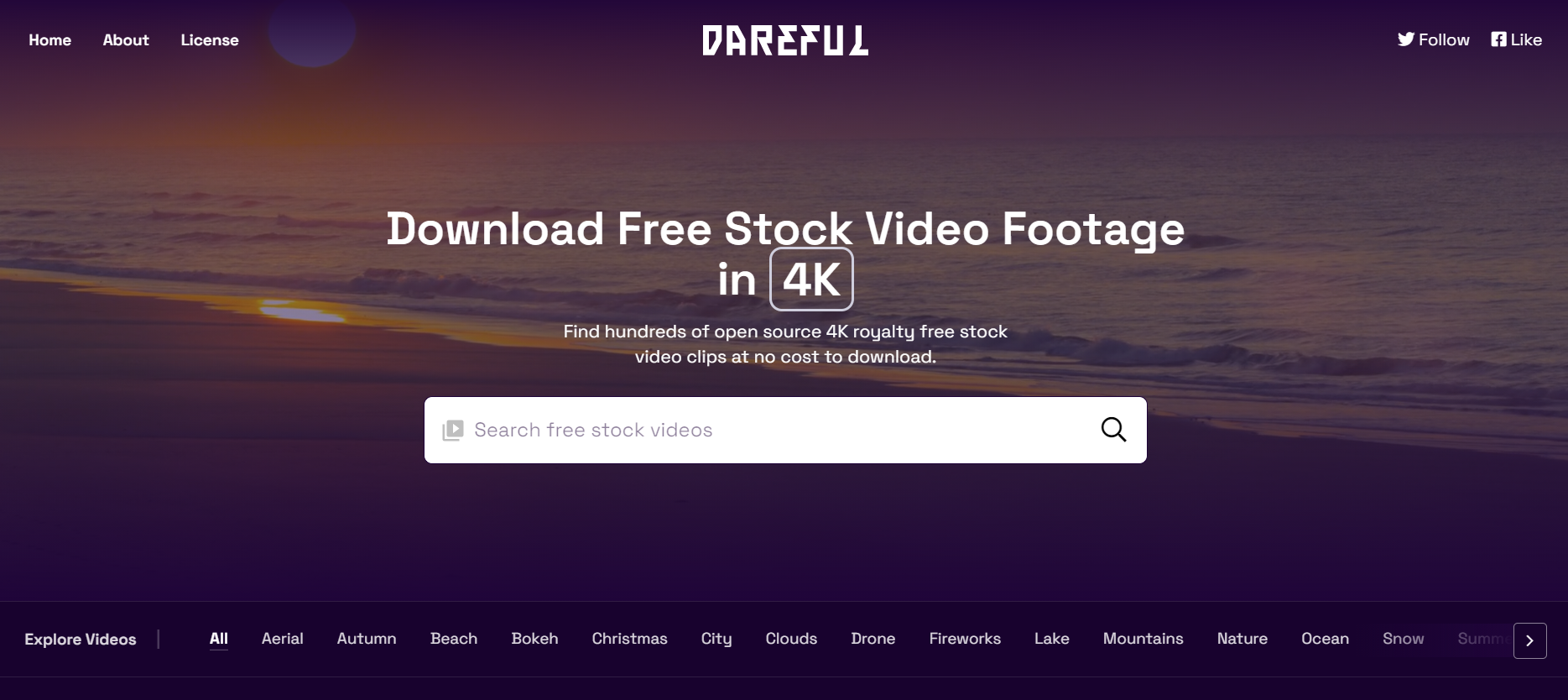 Stock video platform Dareful