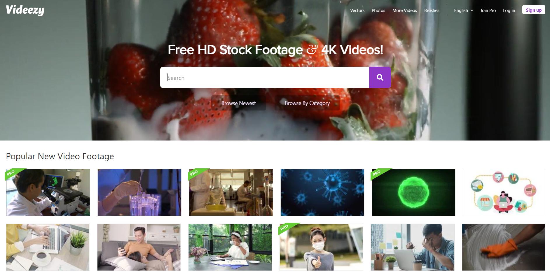 Stock video platform Videezy