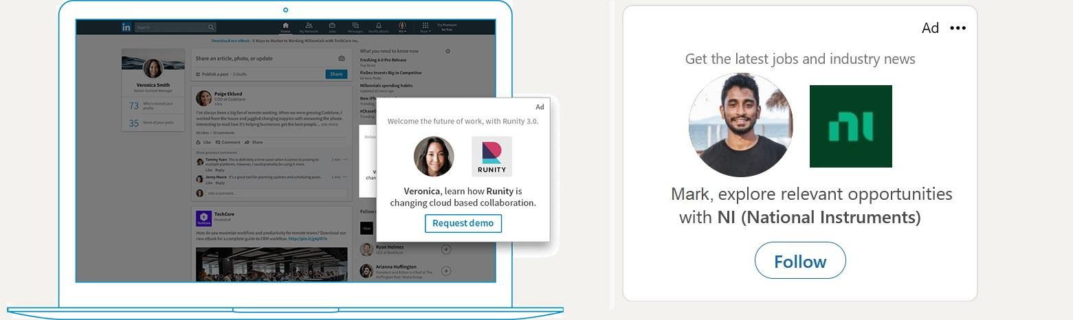Spotlight ad example on LinkedIn