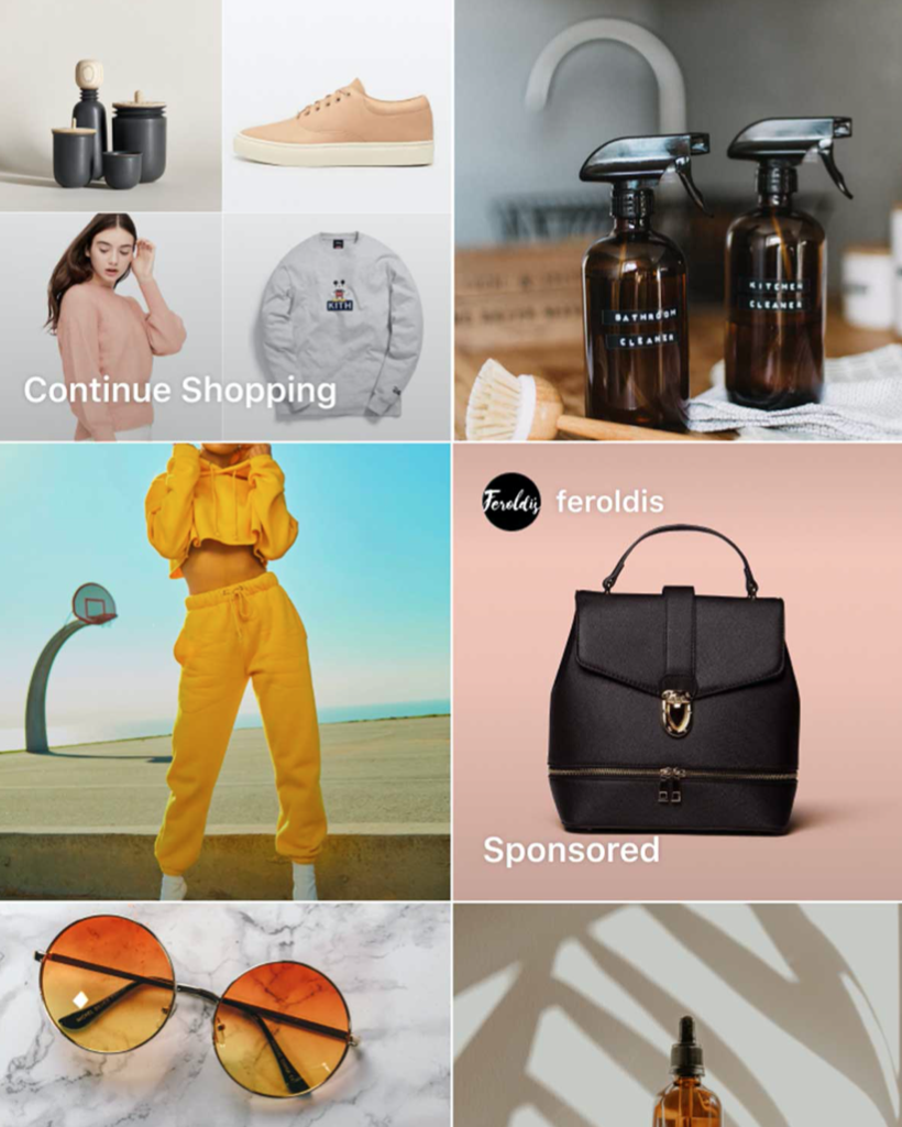 Instagram ads in shopping tabs