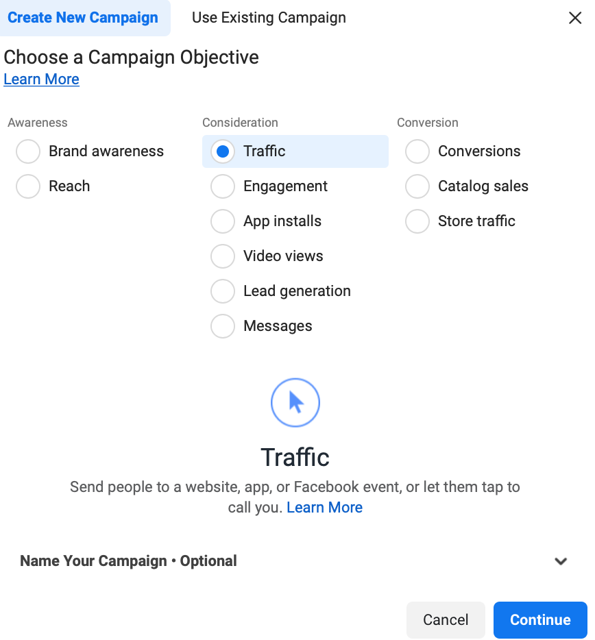 How to Create Instagram Explore Ads objective