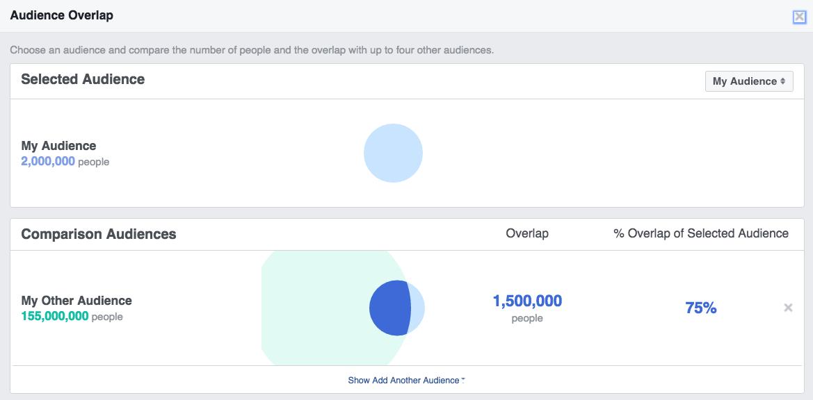 Facebook audience overlap visualization