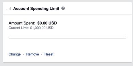 Facebook ad account spending limit