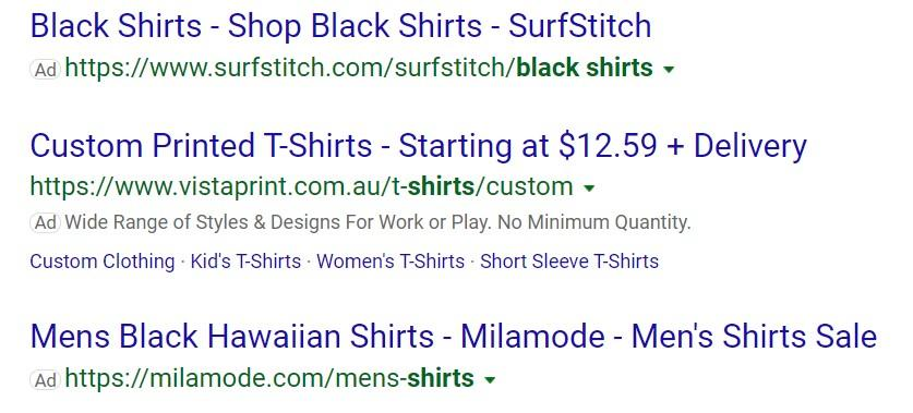 Microsoft Advertising (Bing Ads) ads in search results