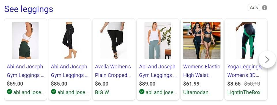 Shoppable Bing ads in search results